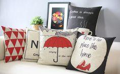 Copertura del cuscino stile britannico minimalista bella personalità cuscino decorativo covers rosso la letteratura e l'arte cuscini home decor(China (Mainland))