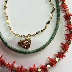 Corazón mini con corales