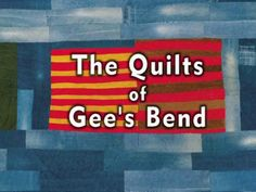 The Quilts of Gee's Bend documentary accompanies the major exhibitions of Gee's Bend quilts.  Set in the quiltmaker's homes and yard, and told through the women's voices, this music-filled, 28-minute documentary takes viewers inside the art and fascinating living history of a uniquely American community and art form.