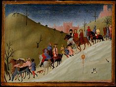 Sassetta (Stefano di Giovanni) (Italian, ca. 1400–1450). The Journey of the Magi, ca. 1433–35. The Metropolitan Museum of Art, New York. Maitland F. Griggs Collection, Bequest of Maitland F. Griggs, 1943 (43.98.1) #snow