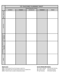 Co-Teaching Planning Template (version 2 of 3)