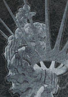 """Spirala władzy""  Blender 2.77 + Photoshop, 100/70cm, digital graphics, 2016"