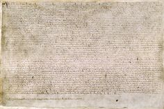 """The basic purpose of Magna Carta, to define and limit the powers of the crown, had parallels and precedents in southern France and Spain, and even in distant Hungary. Perhaps that is unsurprising, since the English monarchy in around 1200 was an international one. King John was not only king of England, he was also lord of Ireland, duke of Normandy, count of Anjou, and duke of Aquitaine, the ruler of an empire covering most of western France."" Image: Magna Carta, Public Domain"