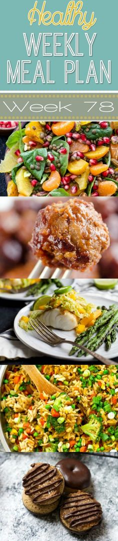 A delicious mix of healthy entrees, snacks and sides make up this Healthy Weekly Meal Plan for an easy week of nutritious meals your family will love! Healthy Weekly Meal Plan, Aldi Meal Plan, Diet Meal Plans, Healthy Dinner Recipes, Diet Recipes, Healthy Snacks, Healthy Eating, Meal Prep, Healthy Mummy