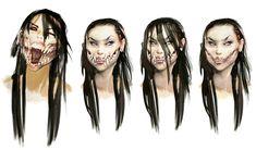 Fixed concept art for Mileena. Mileena Concept art Color fix Game Character Design, Character Art, Character Development, Mileena, Mortal Kombat X, Street Portrait, Alien Art, Creature Feature, Creature Design