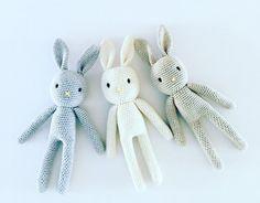Crochet Bunny Plush Toy Cotton Bunny Amigurumi Rabbit Crochet Rabbit, Newborn Prop, Bunny Rabbit Made to Order Crochet Animals, Crochet Toys, Unique Crochet, Crochet Ideas, Rabbit Crafts, Crochet Rabbit, Little Elephant, Bunny Plush, Baby Bunnies