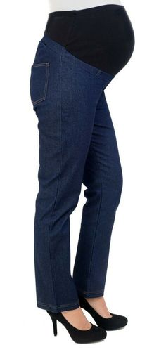 61502eb5c1 (eBay link) SALE Stretch Denim Maternity Jeans Over Bump Size 8 Regular Leg  30