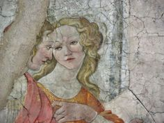 Detail of Venus and the Three Graces Presenting Gifts to a Young Woman, also known as Giovanna degli Albizzi Receiving a Gift of Flowers from Venus (Italian: Venere e le tre Grazie offrono doni a una giovane), is a fresco painting by the Italian Renaissance painter Sandro Botticelli of circa 1483-1486. The painting and its companion piece, A Young Man Being Introduced to the Seven Liberal Arts, originally decorated the walls of Villa Lemmi, a country villa near Florence owned by Giovanni…