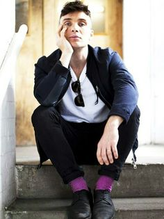 Cillian Murphy - such a beautiful picture 💙 Peaky Blinders Thomas, Cillian Murphy Peaky Blinders, Gorgeous Men, Beautiful People, Attractive Men, Man Crush, Gq, Sexy Men, Hot Guys