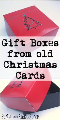 Recycle last year's Christmas cards into little gift boxes for this year's gifts make gift boxes from old Christmas cards Boxed Christmas Cards, Christmas Card Crafts, Old Christmas, Christmas Balls, Simple Christmas, Handmade Christmas, Recycled Christmas Cards, Holiday Crafts, Christmas Presents To Make