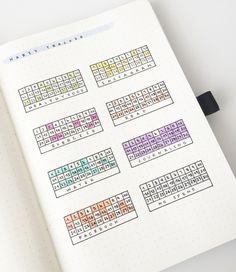 Bullet Journal® Show & Tell with Federica @feebujo. Habit Tracker as inspired by Dee of Decade Thirty.