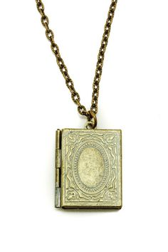 Painted Book Locket Necklace
