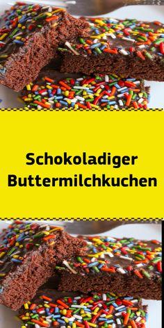 Schokoladiger Buttermilchkuchen - New Site Pecan Recipes, Chocolate Recipes, Sweet Recipes, Cake Recipes, Cake Chocolate, Winter Desserts, Fun Desserts, Appetizer Recipes, Appetizers
