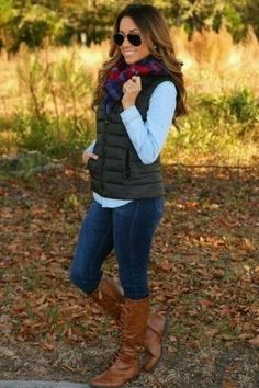 Winter Fashion Outfits, Casual Fall Outfits, Fall Fashion Trends, Fall Winter Outfits, Simple Outfits, Look Fashion, Cool Outfits, Autumn Fashion, Vest Outfits For Women