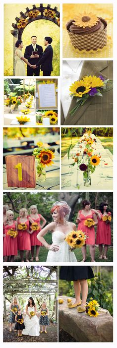 sunflower wedding theme - like the boutonniere