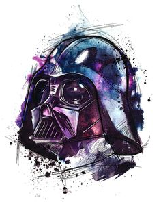Star Wars Drawings, Darth Vader, Star Wars Wallpaper, Geek Out, Star Wars Art, Silhouette Projects, Disney, Watercolor Paintings, Retro