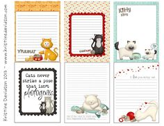 Kristine Davidson: Printables  Lots of other free pintables great for notes, gift tags, scrapbooks, etc.