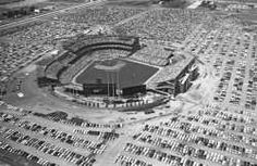 Black and white photograph of The All-Star game at Metropolitan Stadium, 1965…