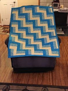 Rail fence quilt (baby shower gift)