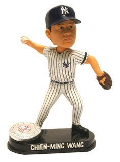 New York Yankees Chien-Ming Wang Forever Collectibles Blatinum Bobble Head - Pose 2