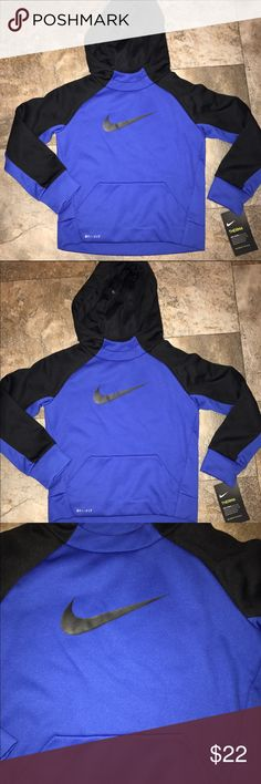 Nike boys hoody sweatshirt size 4T NWT Nike boys hooded dry fit sweatshirt size 4T NWT  10% off on ANY two items purchased AND shipped together.  15% off ANY three items purchased AND shipped together! Nike Shirts & Tops Sweatshirts & Hoodies