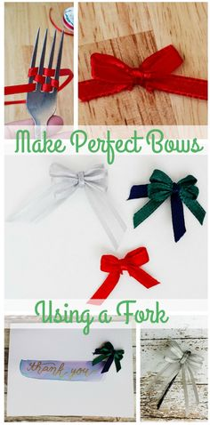 Making tiny bow can be tedious. Make it a little bit easier by making adorable fork bows. They're perfect for adding a little extra decoration to cards, bobby pins, and other things.