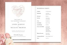 Top Tips: Order of Service or Ceremony booklet, which is right for you? Unique Wedding Invitations, Wedding Stationery, Pink Wedding Theme, Order Of Service, Wedding Story, Love Letters, Booklet, Rsvp, Real Weddings
