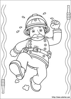Fireman Sam coloring page | Coloring pages and Printables ...