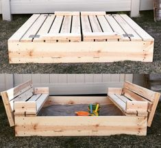 62 DIY Projects to Transform Your Backyard: Sandbox with lid