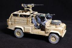 1/35 scale HobbyBoss kit, Land Rover Defender Wolf WMIK