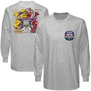 Alabama Crimson Tide 2012 BCS National Championship Game Mask Long Sleeve T-Shirt - Gray is available now at FansEdge. Alabama Vs, Alabama Shirts, Alabama Crimson Tide, Sweet 16 Shirts, Tiger Clothing, Cold Weather Gear, Lsu, National Championship, Championship Game