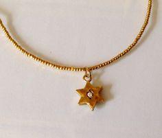 Gold Jewish Star Gold Star Of David by KarynJamieDesigns Handmade Shop, Etsy Handmade, Handmade Items, Handmade Jewelry, Gold Stars, Shopping Mall, Flourish, Holiday Gifts, Invite