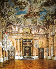 Ordenssaal of Ludwigsburg Palace, Stuttgart Innsbruck, Ludwigsburg Germany, Stuttgart Germany, Germany Castles, Baroque Architecture, Grand Homes, Rococo Style, Scenic Design, Beautiful Places