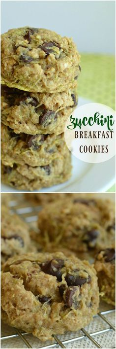 Just the right amount of sweet cookies for breakfast! Zucchini makes these cookies super soft and chocolate makes them super yummy!