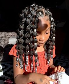Baby Girl Hairstyles, Natural Hairstyles For Kids, Kids Braided Hairstyles, Natural Hair Styles, Toddler Hairstyles, Braids For Kids, Toddler Braids, Braids For Black Hair, Gorgeous Hair