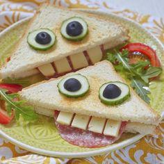 Funny Face Sandwich on Rudi's Gluten-Free bread!