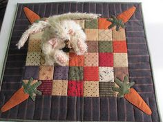 what a cute carrot quilt for my rabbit friend