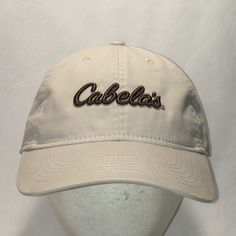 9f480693 Cabelas Hat Beige Green Baseball Cap Outdoor Sports Gear Hunting Fishing  Hats For Men Vtg 90s Dad Hats Cool Gifts T36 MA9013