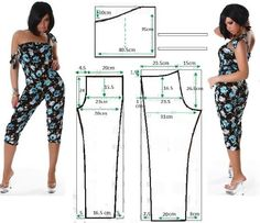Jumpsuits pattern - illustration gives amounts, but I don't see what size this is for.