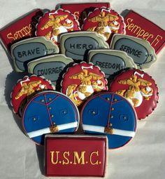 #USMC #military #veterans USMC Cookies! - Post Jobs and Become a Sponsor at www.HireAVeteran.com