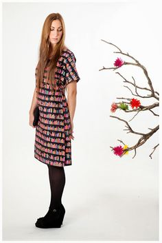 Vestido algodón estampado Short Sleeve Dresses, Dresses With Sleeves, Vintage, Clothes, Style, Fashion, Printed Cotton, Outfit, Clothing