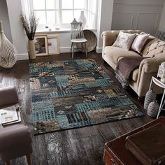 Zarah 190 B Blue/Beige Rug by Oriental Weavers Geometric Area Rug, Blue Rug, Flat Weave Rug, Contemporary Interior, Home Decor, Rugs, Contemporary Rug, Stunning Carpet, Printed Curtains