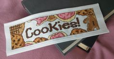 Pattern Cross Stitch Bookmark Cookies by PictureThisCC on Etsy, $3.50