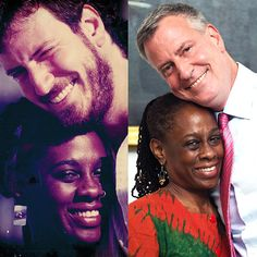 """flonyc: """" 23 years ago today, Bill and I met in this exact spot in City Hall, where we were both working for Mayor Dinkins. Bill will tell you that, for him, it was love at first sight. Interracial Couples, Biracial Couples, Interracial Dating Sites, Mixed Couples, Couples In Love, Famous Couples, Interacial Love, Beaux Couples, Dating Black Women"""