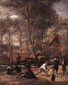 Jan Steen, Skittle Players Outside the Inn, 1663
