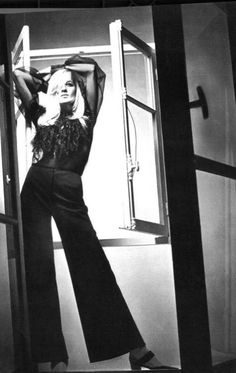 Betty Catroux in YSL through the lenses of Jeanloup Sieff _ Vogue Paris, March 1969.