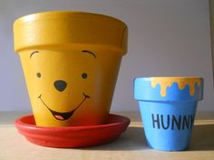 Check out this adorable Winnie the Pooh Painted Flower Pot GIft Set! Now available on Ginger Pots' Storenvy shop!