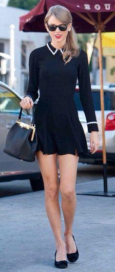 taylor swift black dress