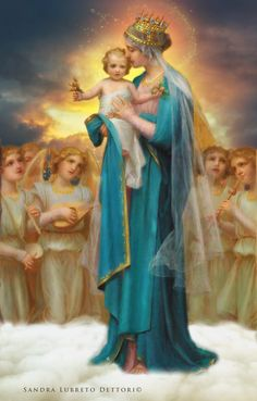 Mother Mary Queen of Heaven and earth Site-Wide Activity Divine Mother, Blessed Mother Mary, Blessed Virgin Mary, Religious Pictures, Religious Icons, Religious Art, Catholic Art, Catholic Saints, Images Of Mary