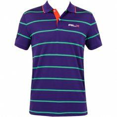 RLX Ralph Lauren Stripe Tech Pique Saranac Purple #golf #fashion #trendygolf